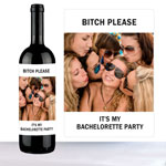 Flaskeetikett, Bitch please,   bachelorette party, hvit