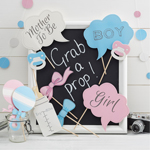 Photo Booth kit til Baby Shower