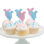 Cupcake Toppers Little Lady or Mini Mister, 12-pakning