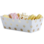 Food Trays - Gold Dots, 5-pakning