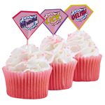 Cupcake sticks - Pink Pop Art - 20-pack