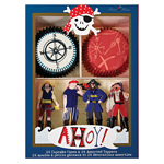 Cupcake kit, Pirate, 24-pakning
