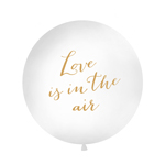 Kjempeballong, Love is in the air, hvit 90-100cm