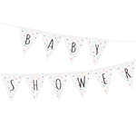 Vimpel med teksten Baby Shower, Dots Multi