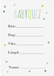 Baby Quiz, 10-pakning, Baby Shower, Dots Blå