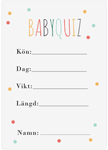 Baby Quiz, 10-pakning, Baby Shower, Dots Multi