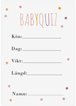 Baby Quiz, 10-pakning, Baby Shower, Dots Rosa