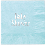 Servietter Baby Shower, Aqua, 20-pakning