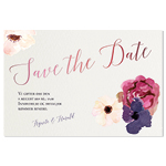 Save-the-date, Fleurs Aquarelle