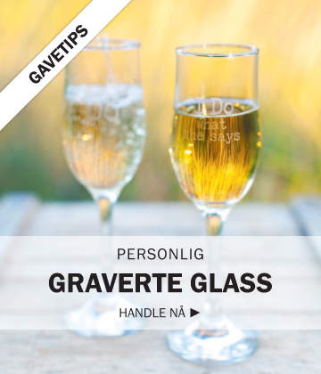 Personlig graverte glass